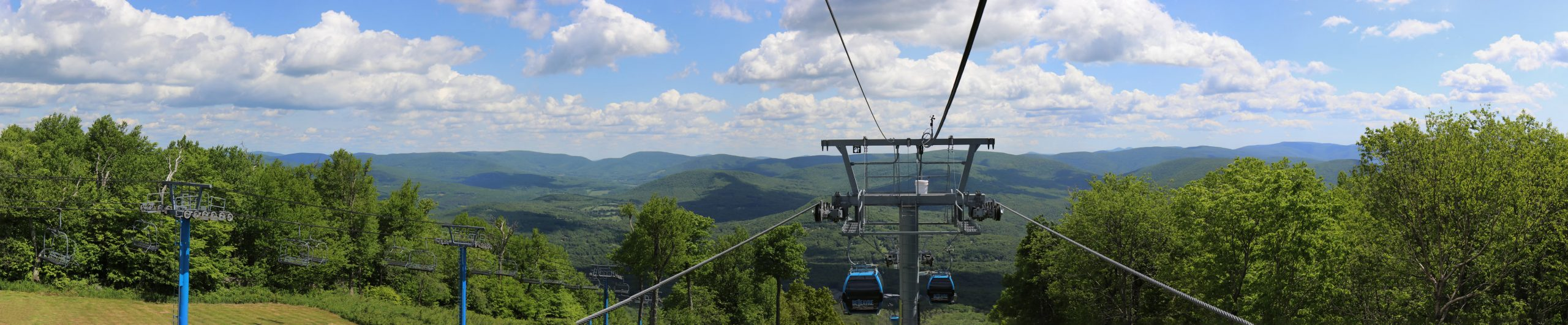View of the Catskill Mountains from the Catskill Thunder Gondola
