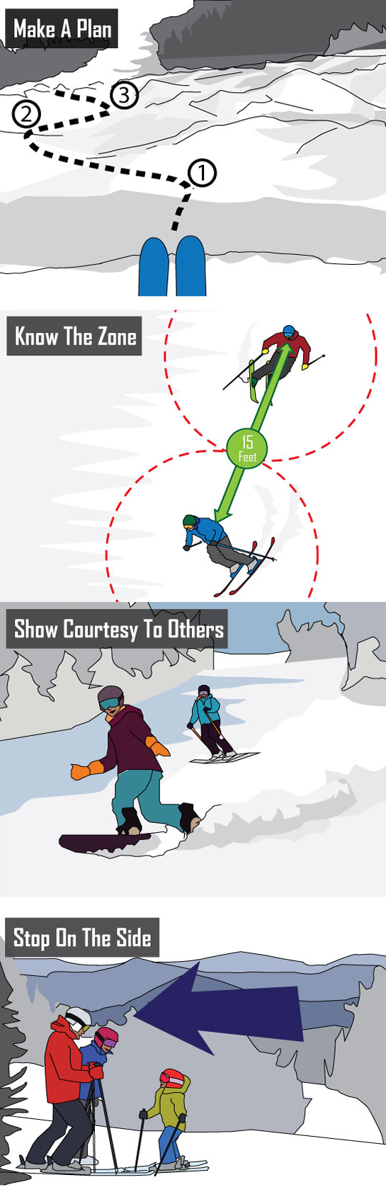 DO AND DO NOTS OF SKIING