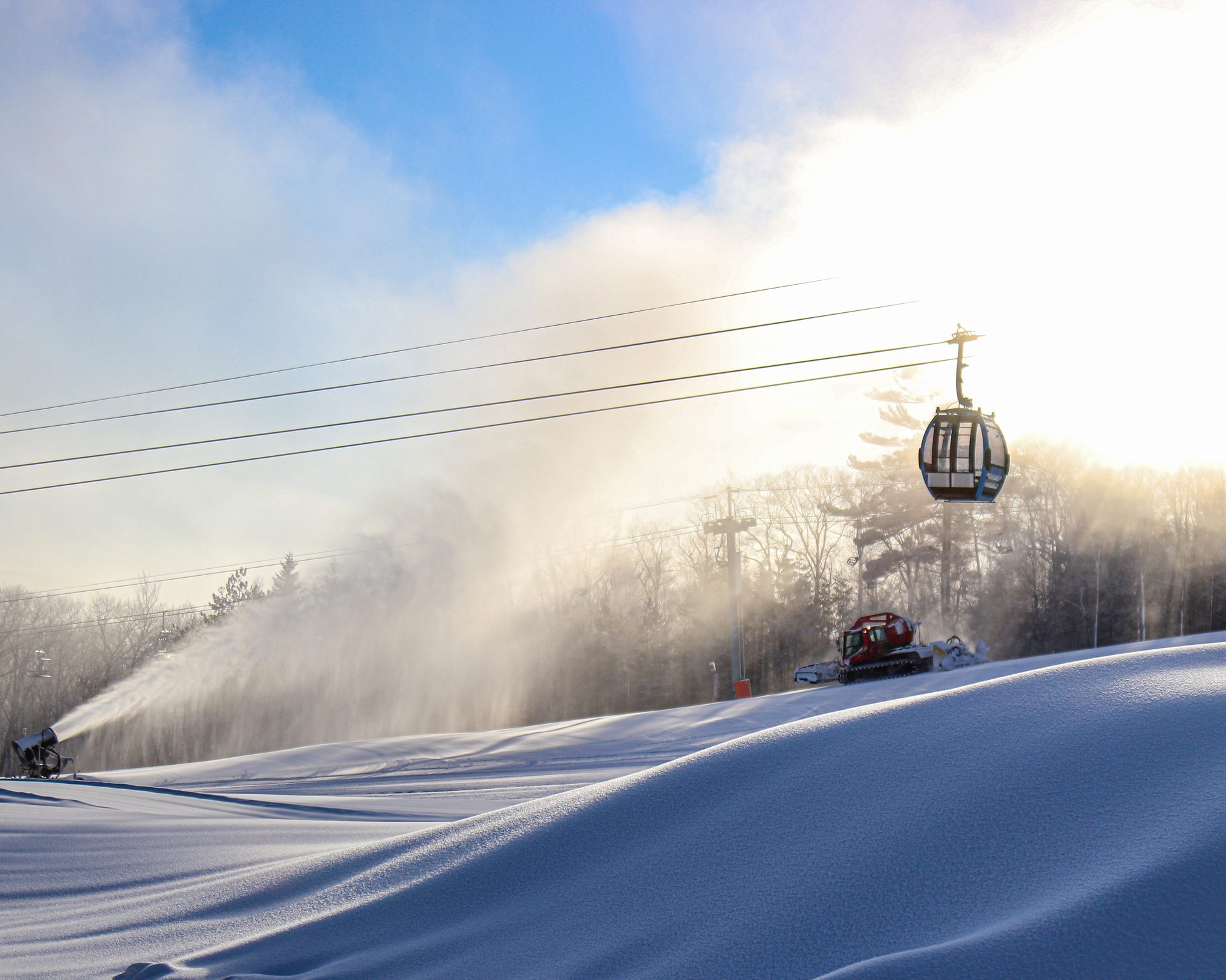 Snowmaking at Belleayre